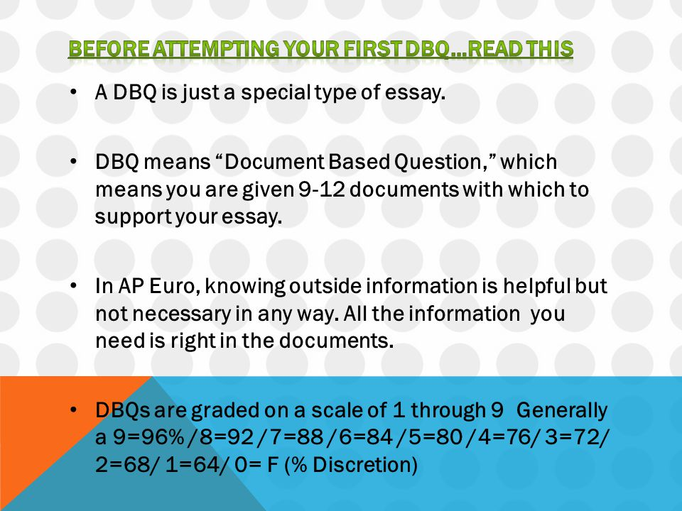 Before attempting your first dbQ…read this