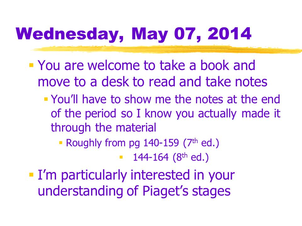 Wednesday, May 07, 2014 You are welcome to take a book and move to a desk to read and take notes.