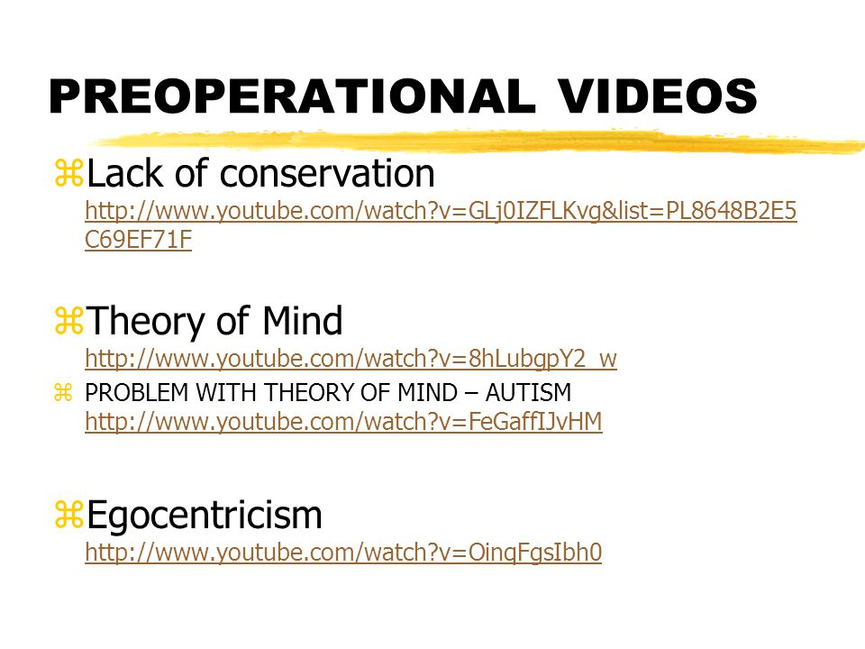 PREOPERATIONAL VIDEOS