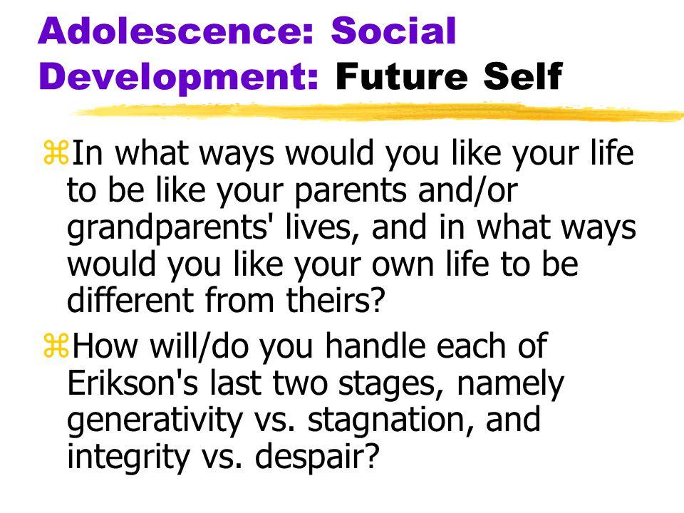 Adolescence: Social Development: Future Self