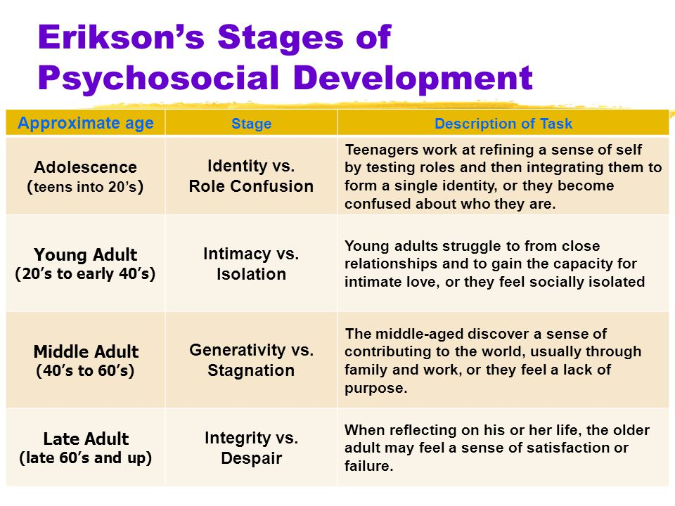 checkpoint stages of ego development essay Ego integrity versus despair is the eighth and final stage of erik erikson's stage theory of psychosocial development this stage begins at approximately age 65 and ends at death as we grow older (65+ yrs) and become senior citizens, we tend to slow down our productivity and explore life as a retired person.