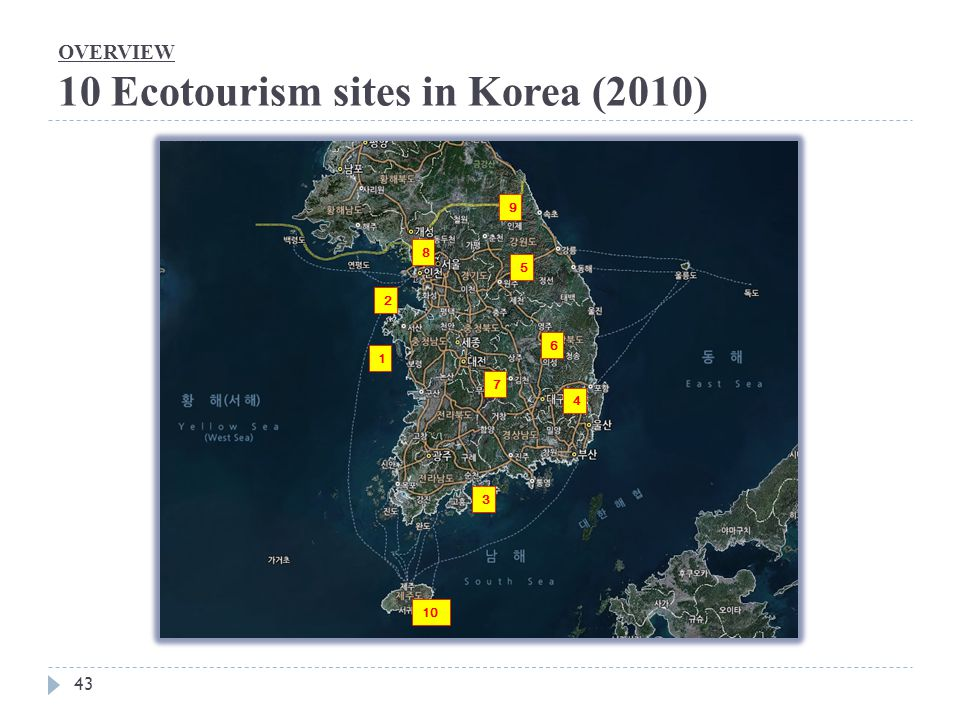 OVERVIEW 10 Ecotourism sites in Korea (2010)