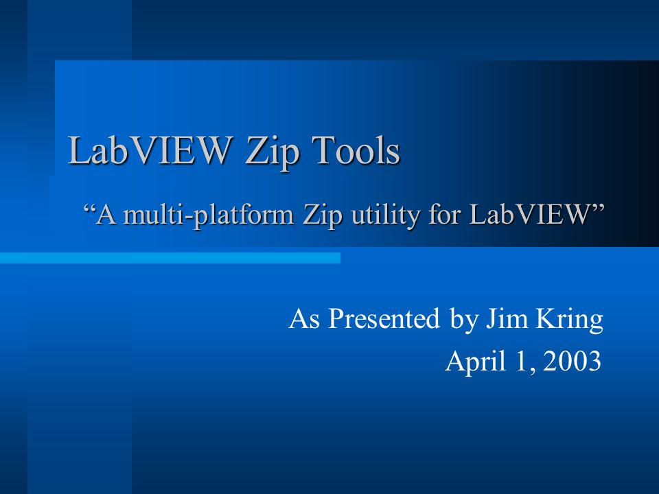 As Presented by Jim Kring April 1, 2003
