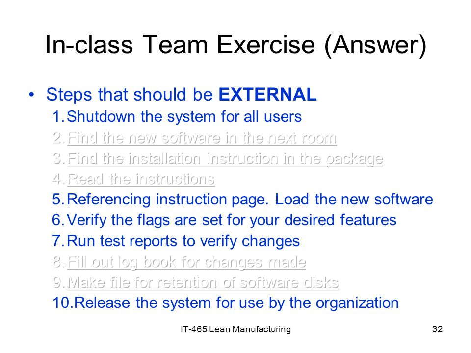 In-class Team Exercise (Answer)