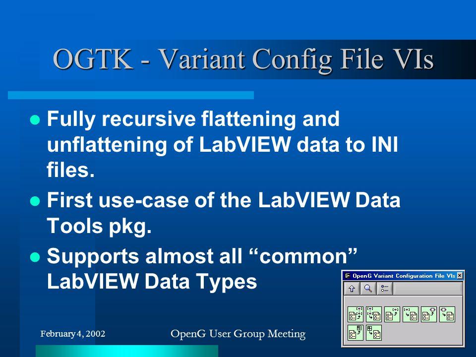 OGTK - Variant Config File VIs