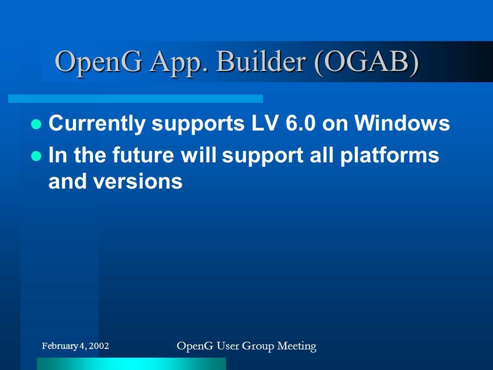 OpenG App. Builder (OGAB)