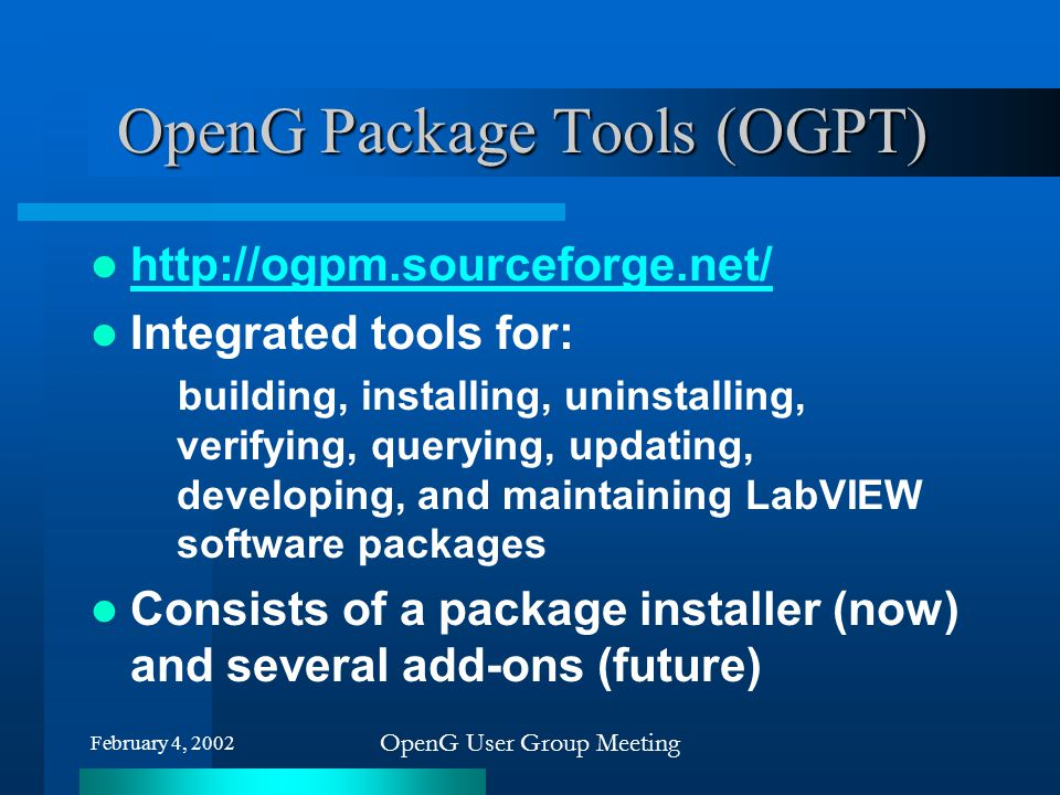 OpenG Package Tools (OGPT)