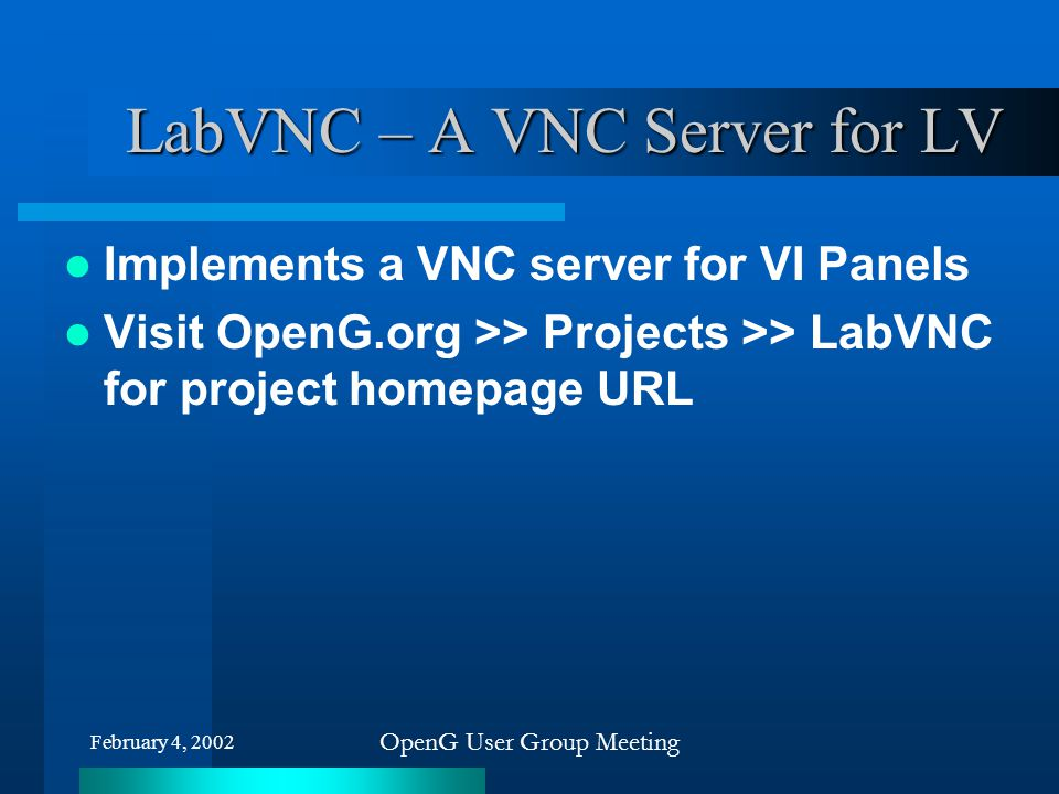LabVNC – A VNC Server for LV