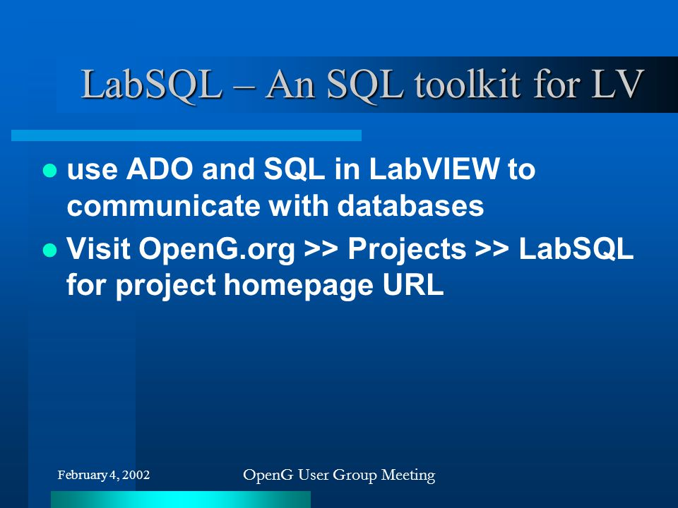 LabSQL – An SQL toolkit for LV