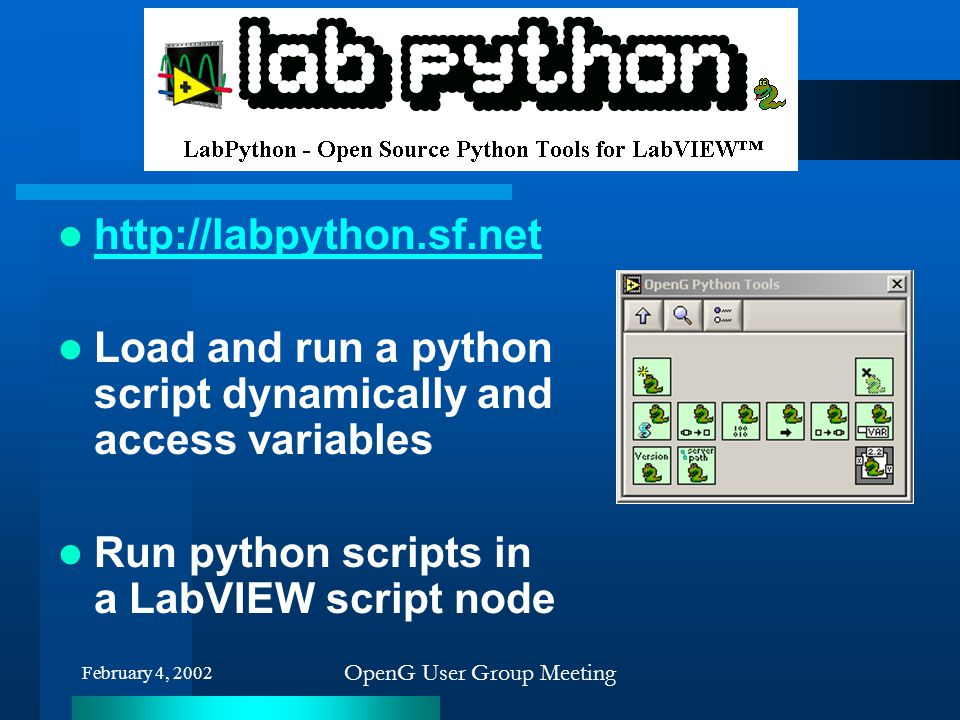 LabPython Python toolkit for LV