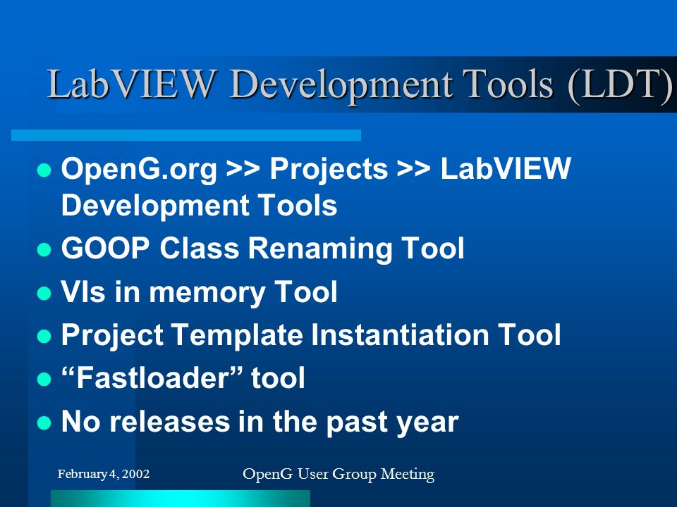 LabVIEW Development Tools (LDT)