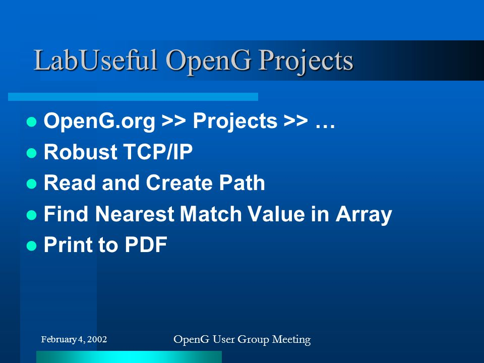 LabUseful OpenG Projects