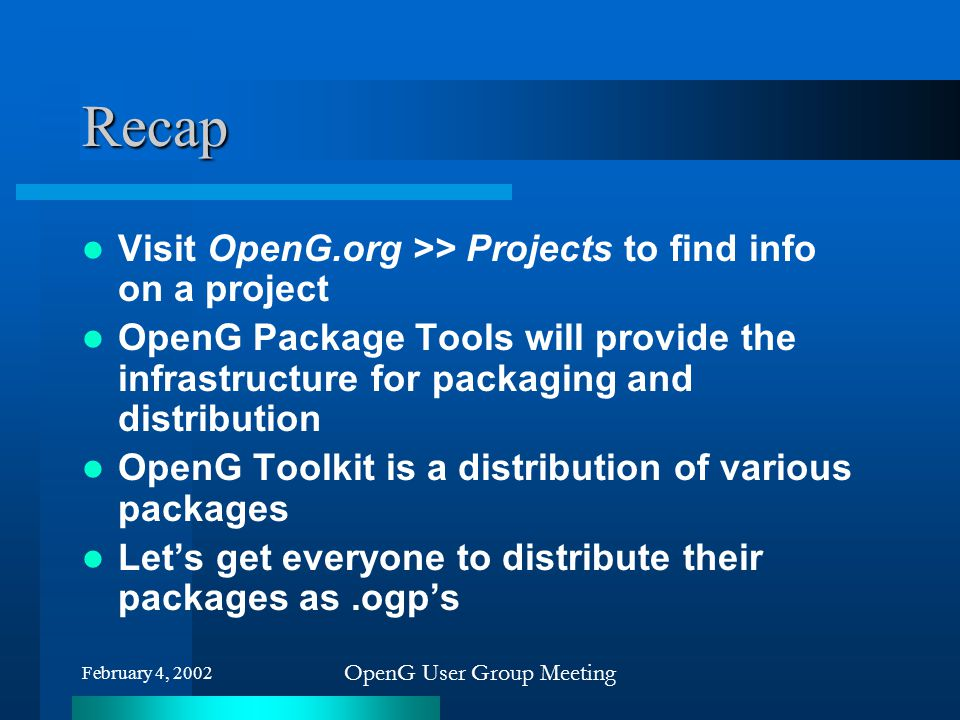 OpenG User Group Meeting