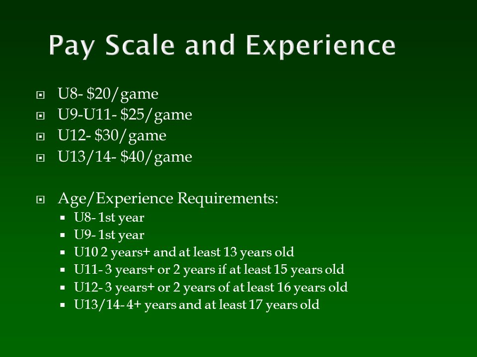 Pay Scale and Experience