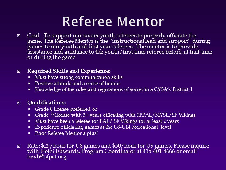 Referee Mentor