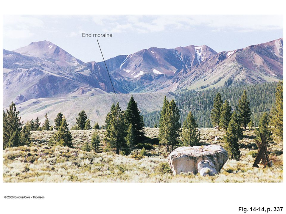 Figure 14. 14: An end moraine deposited by a valley glacier