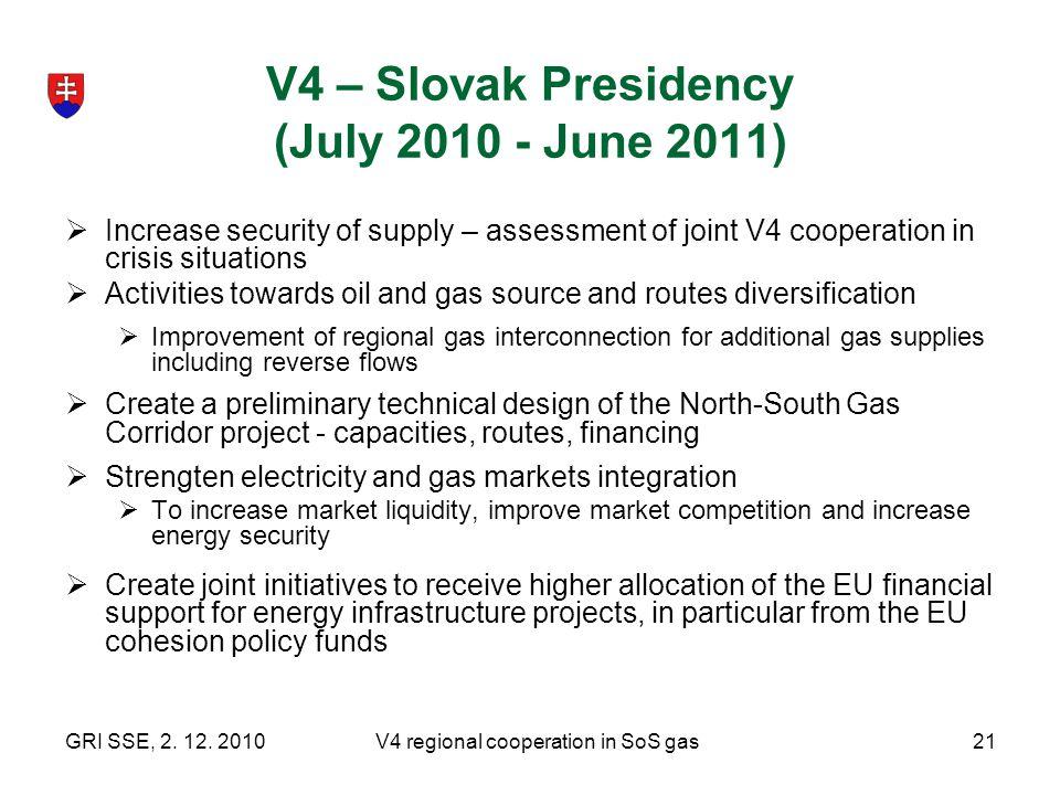 V4 – Slovak Presidency (July 2010 - June 2011)