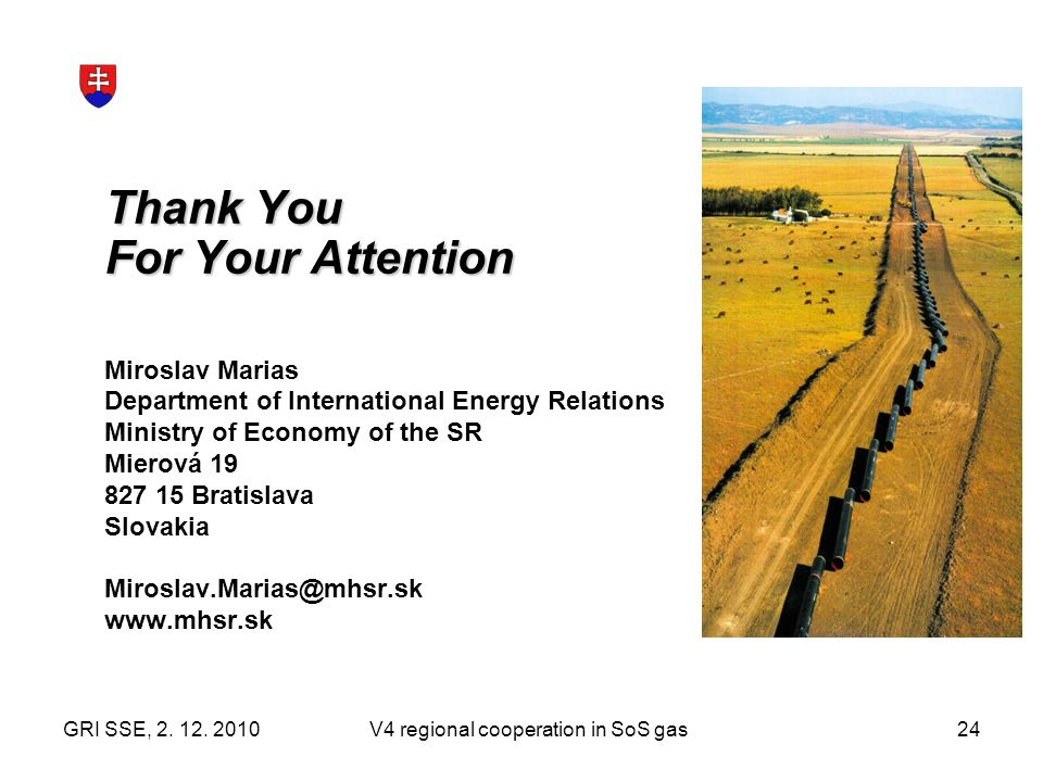 V4 regional cooperation in SoS gas