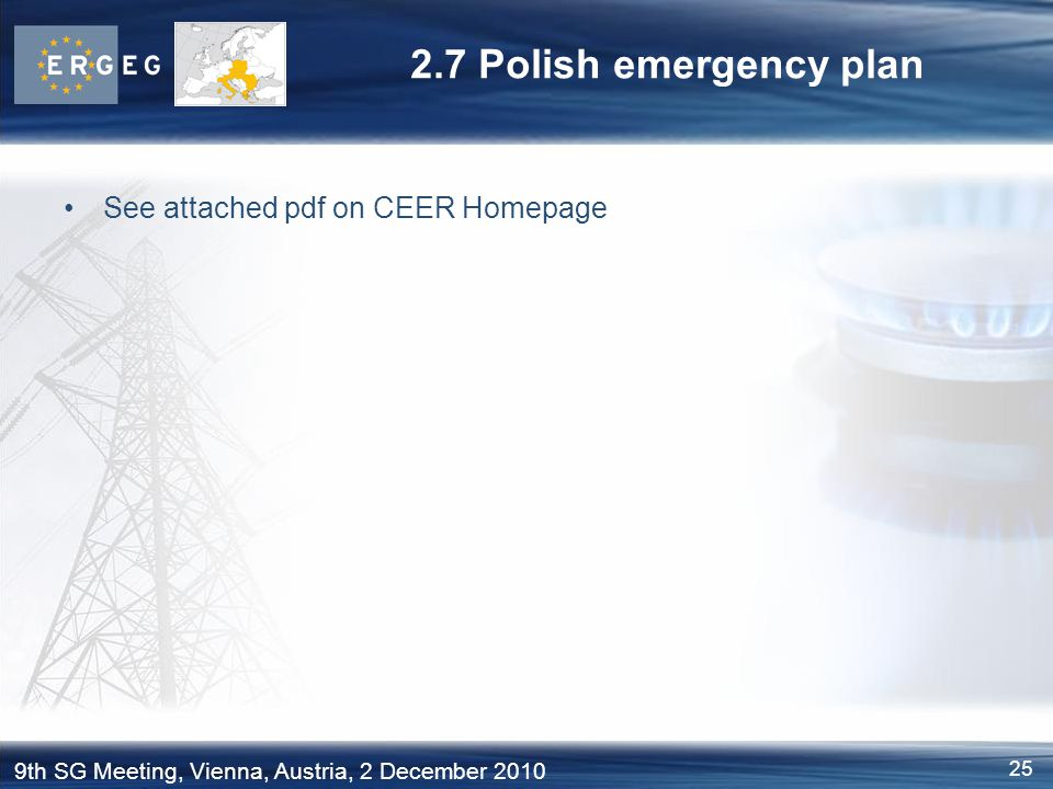 2.7 Polish emergency plan See attached pdf on CEER Homepage