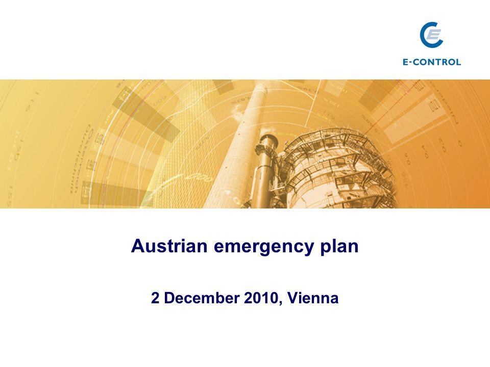 Austrian emergency plan 2 December 2010, Vienna