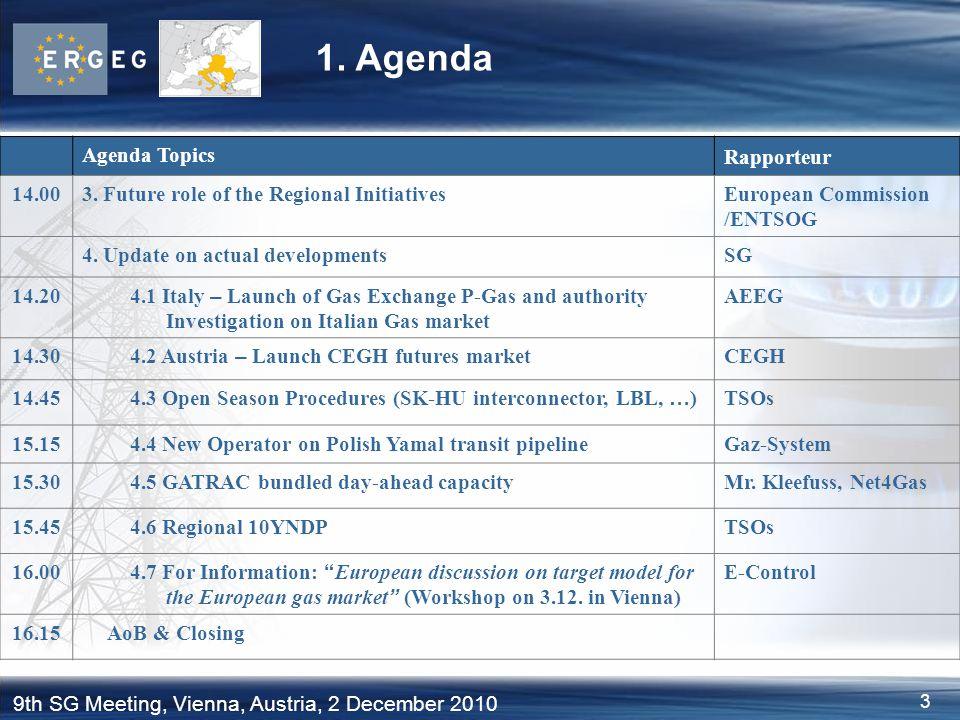 1. Agenda Agenda Topics Rapporteur 14.00