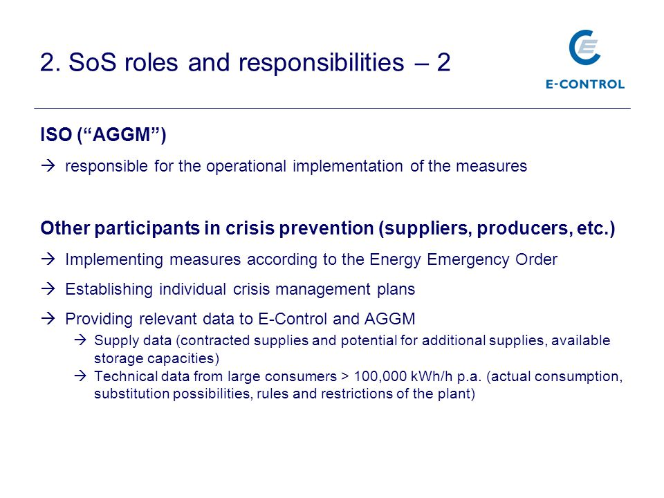 2. SoS roles and responsibilities – 2