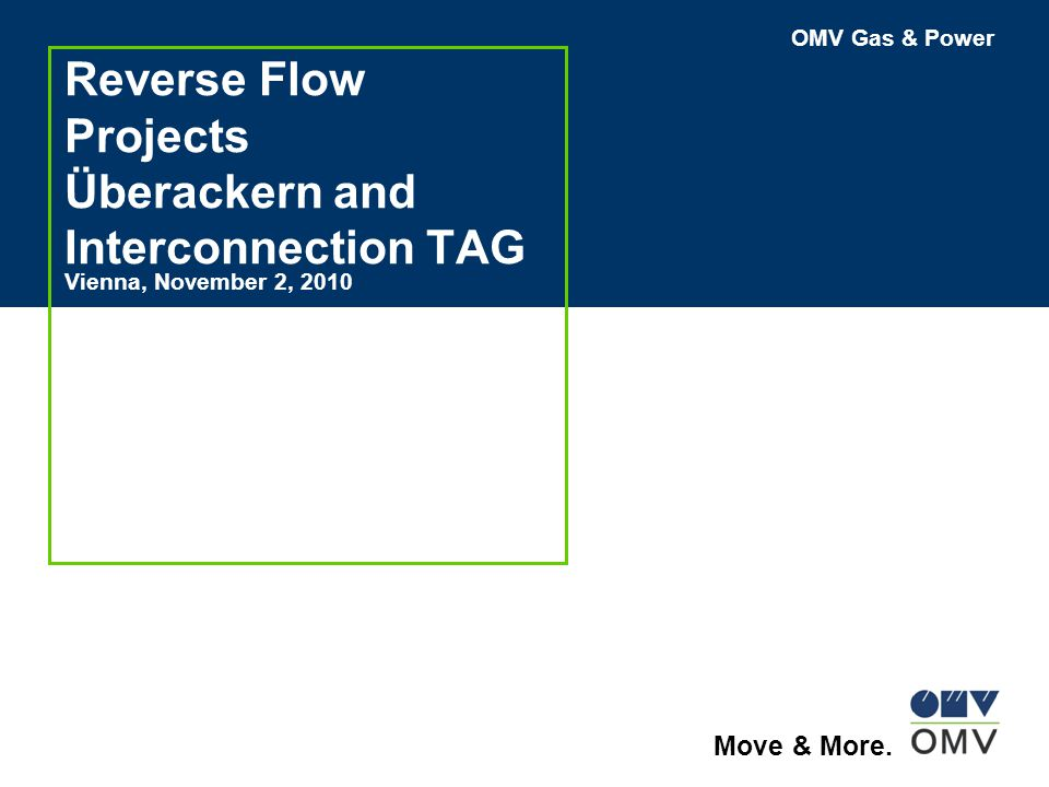 Reverse Flow Projects Überackern and Interconnection TAG