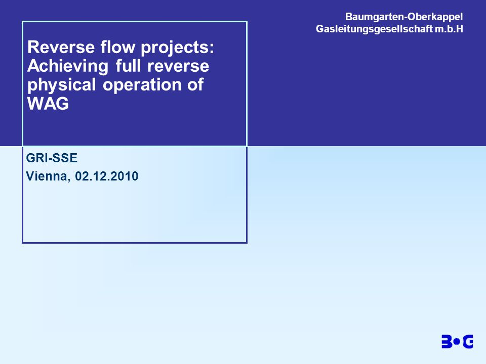 Reverse flow projects: Achieving full reverse physical operation of WAG