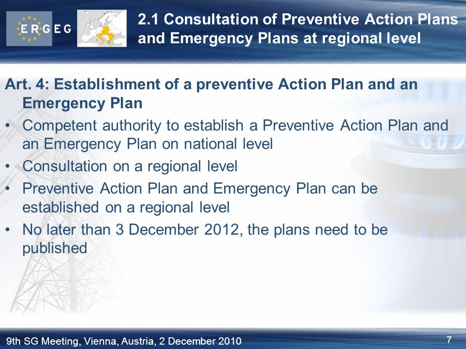 2.1 Consultation of Preventive Action Plans and Emergency Plans at regional level