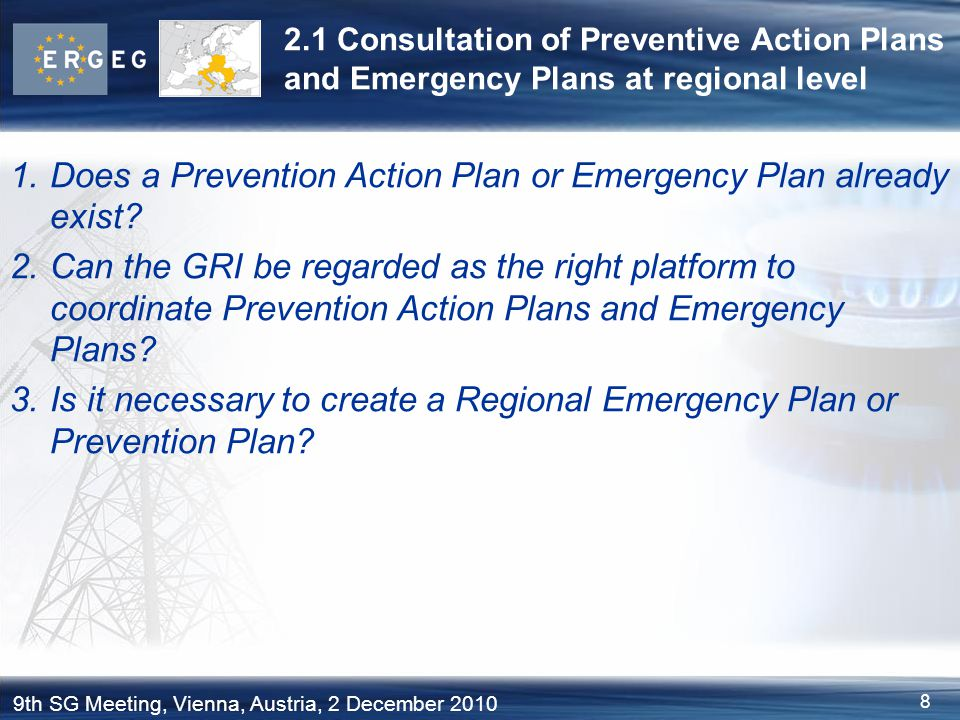 Does a Prevention Action Plan or Emergency Plan already exist