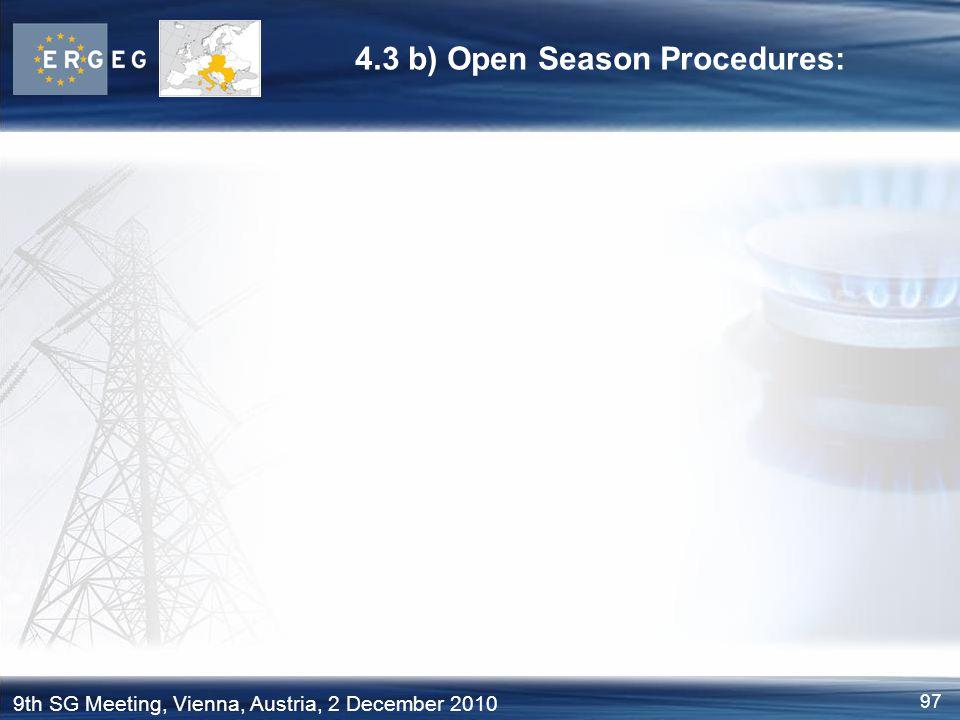 4.3 b) Open Season Procedures: