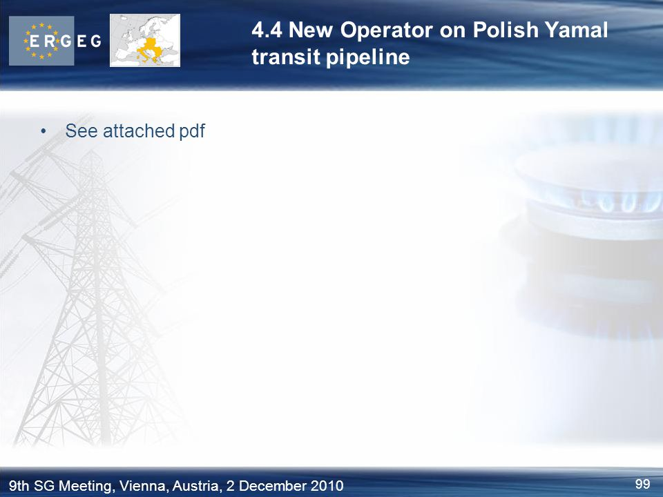 4.4 New Operator on Polish Yamal transit pipeline