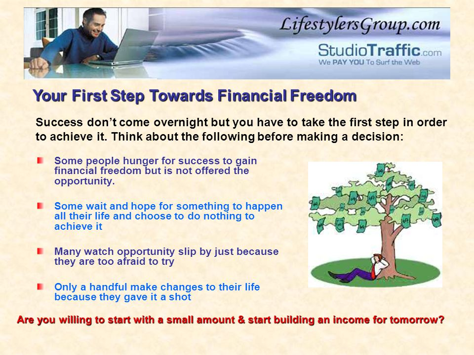 Your First Step Towards Financial Freedom