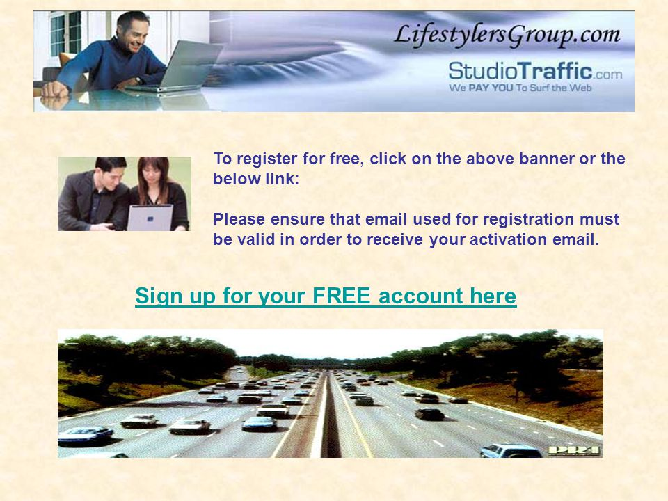 Sign up for your FREE account here