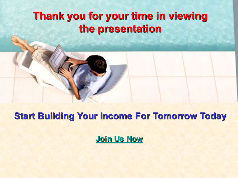 Thank you for your time in viewing the presentation