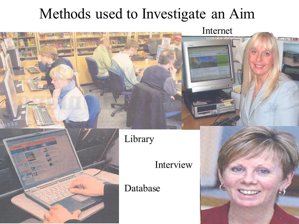 Methods used to Investigate an Aim