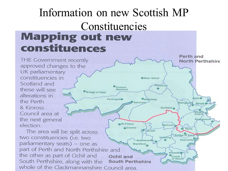 Information on new Scottish MP Constituencies