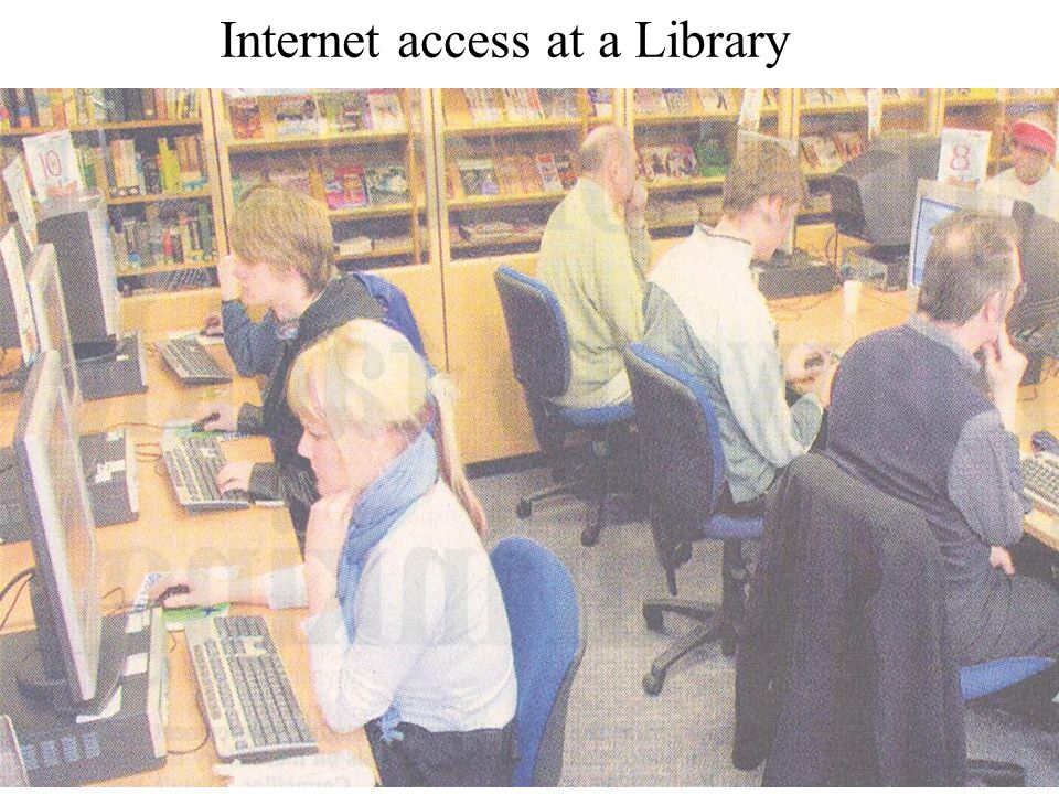 Internet access at a Library