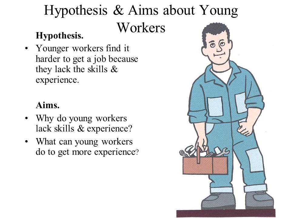 Hypothesis & Aims about Young Workers