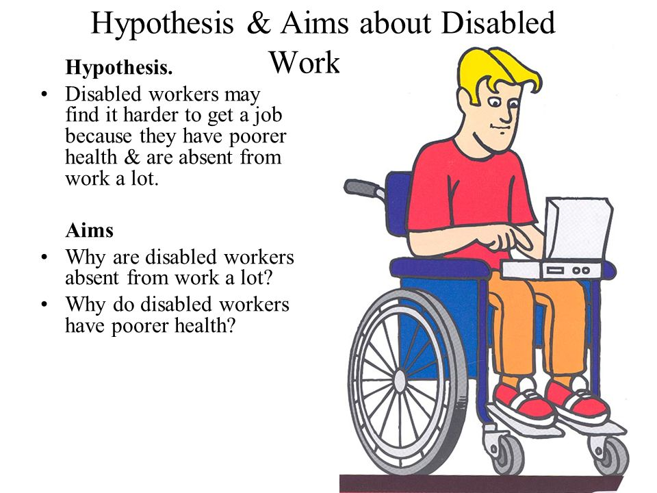 Hypothesis & Aims about Disabled Workers