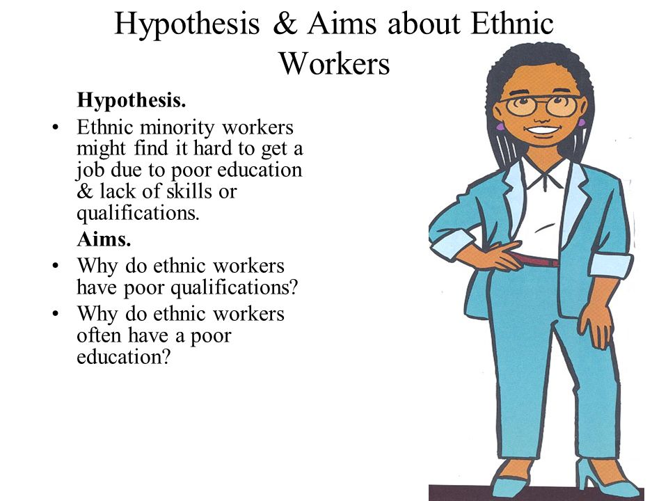 Hypothesis & Aims about Ethnic Workers