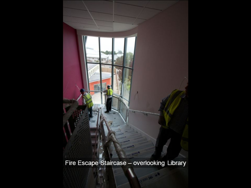 Fire Escape Staircase – overlooking Library