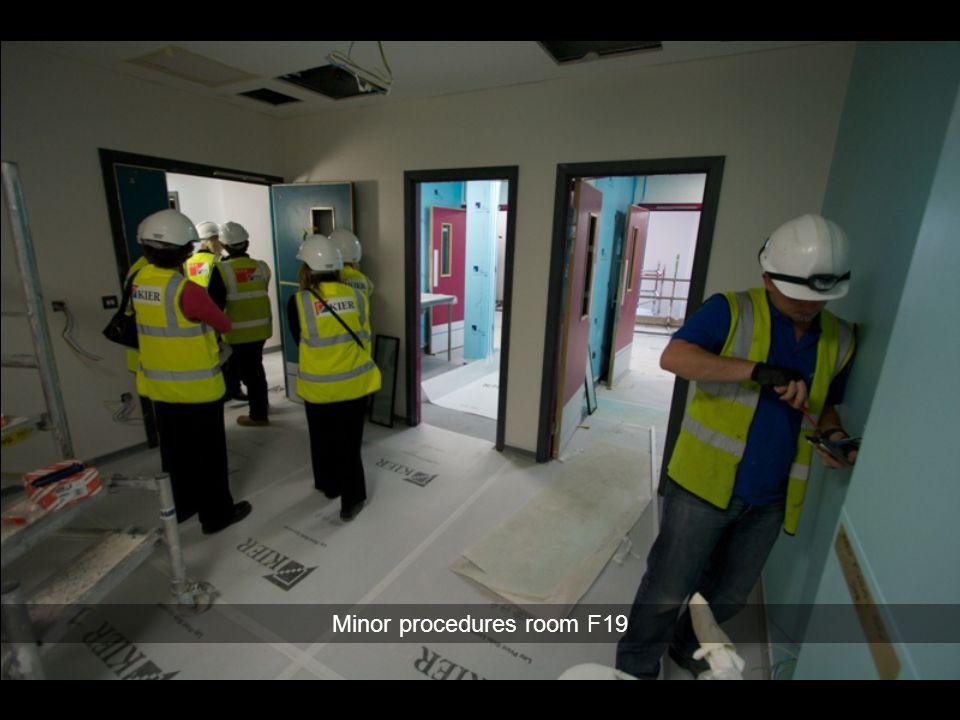 Minor procedures room F19