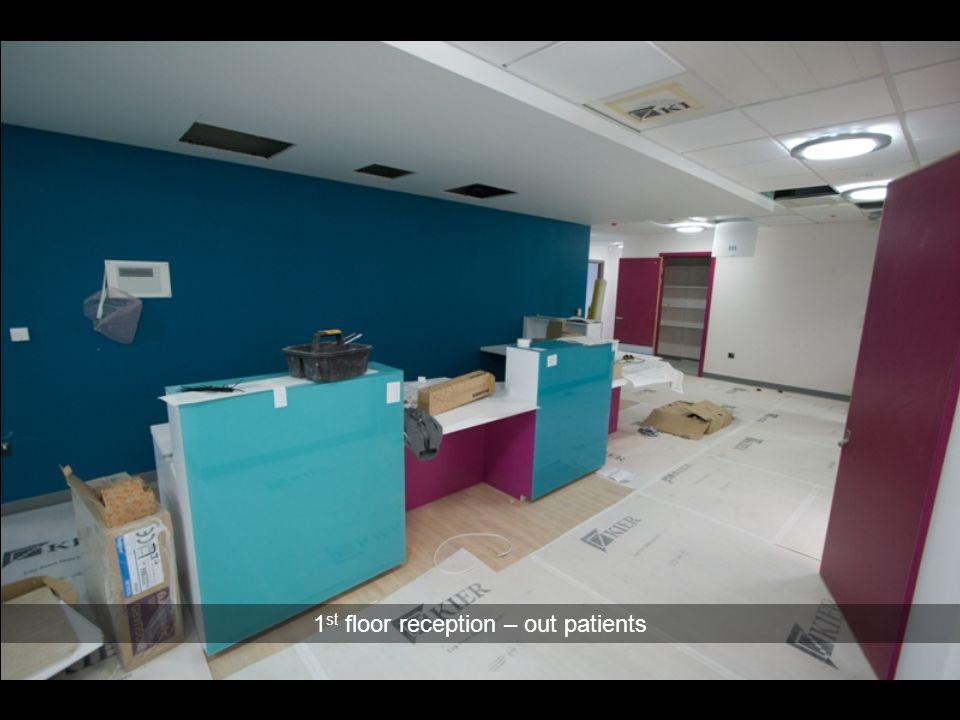 1st floor reception – out patients