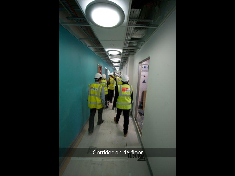 Corridor on 1st floor