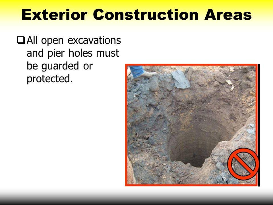 Exterior Construction Areas
