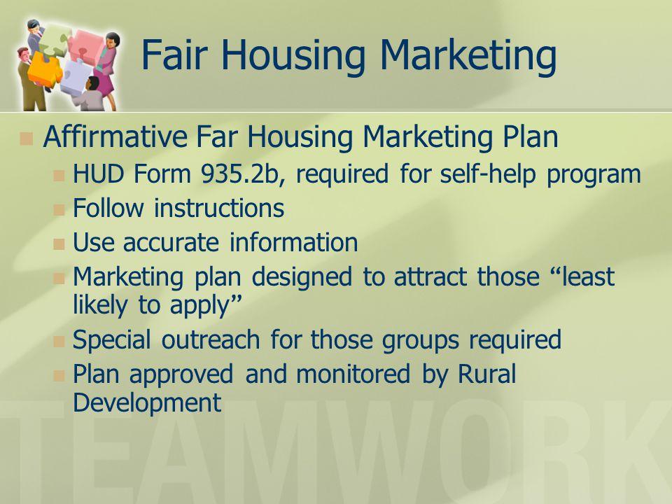 Fair Housing Marketing