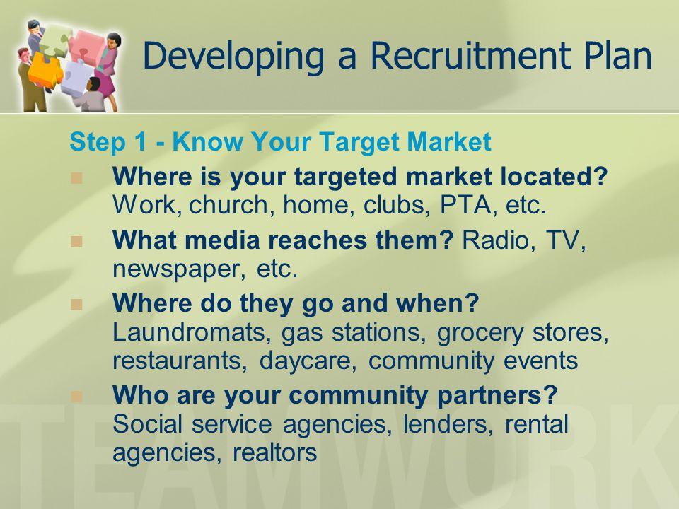 Developing a Recruitment Plan