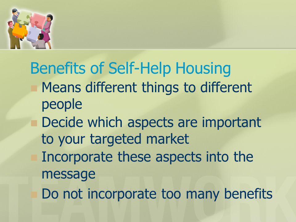 Benefits of Self-Help Housing