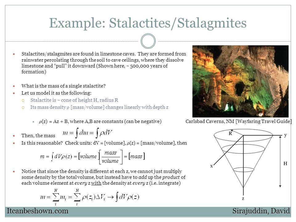 Example: Stalactites/Stalagmites